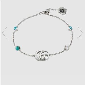 NEW Gucci Double GG Marmont Flower Bracelet